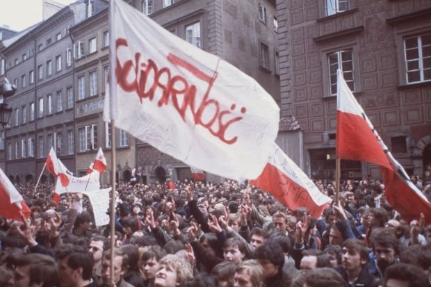 polish flag solidarnosc