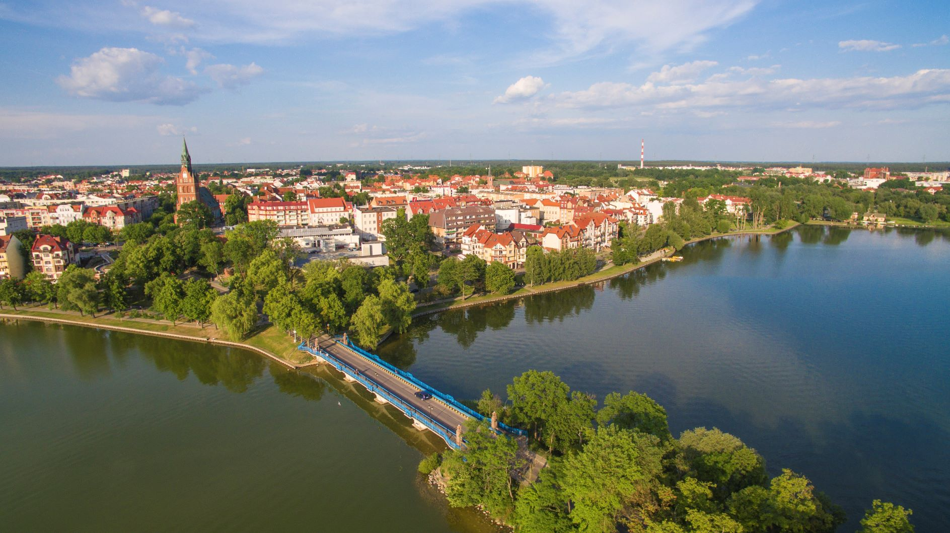 ełk city and riverside