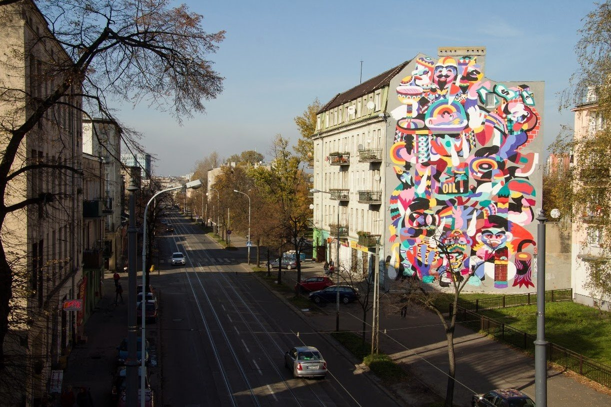 łódż is well known for its streetart