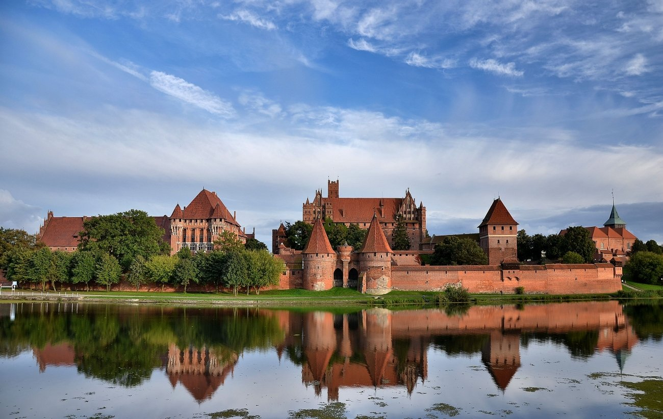 malbork castle in summer