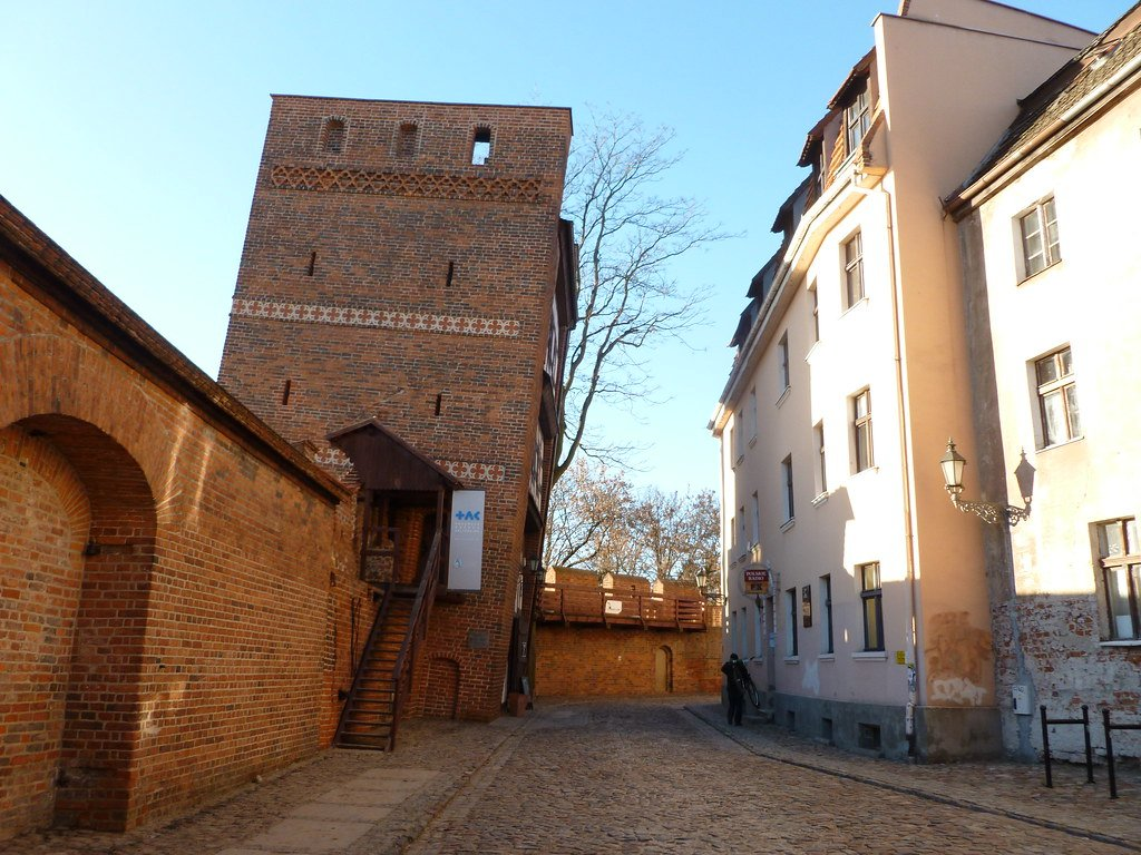 the leaning tower of torun in poland